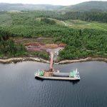 Liebherr machines take part in West Argyll floating pier project