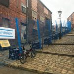 Wallbank Fencing protects Lowry's Crowther Street with FenceSafe Temporary Fencing