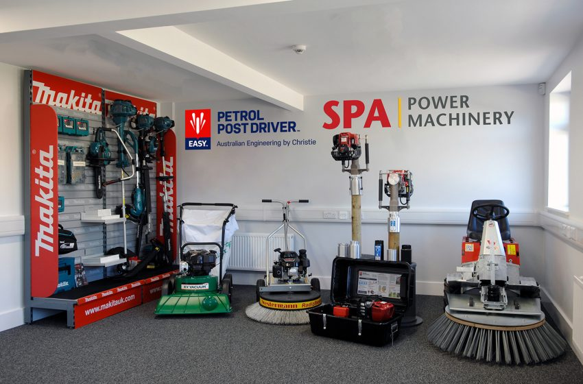 NEW SHOWROOM AND DEMONSTRATION AREA FOR EASY PETROL POST DRIVER AND WESTERMANN