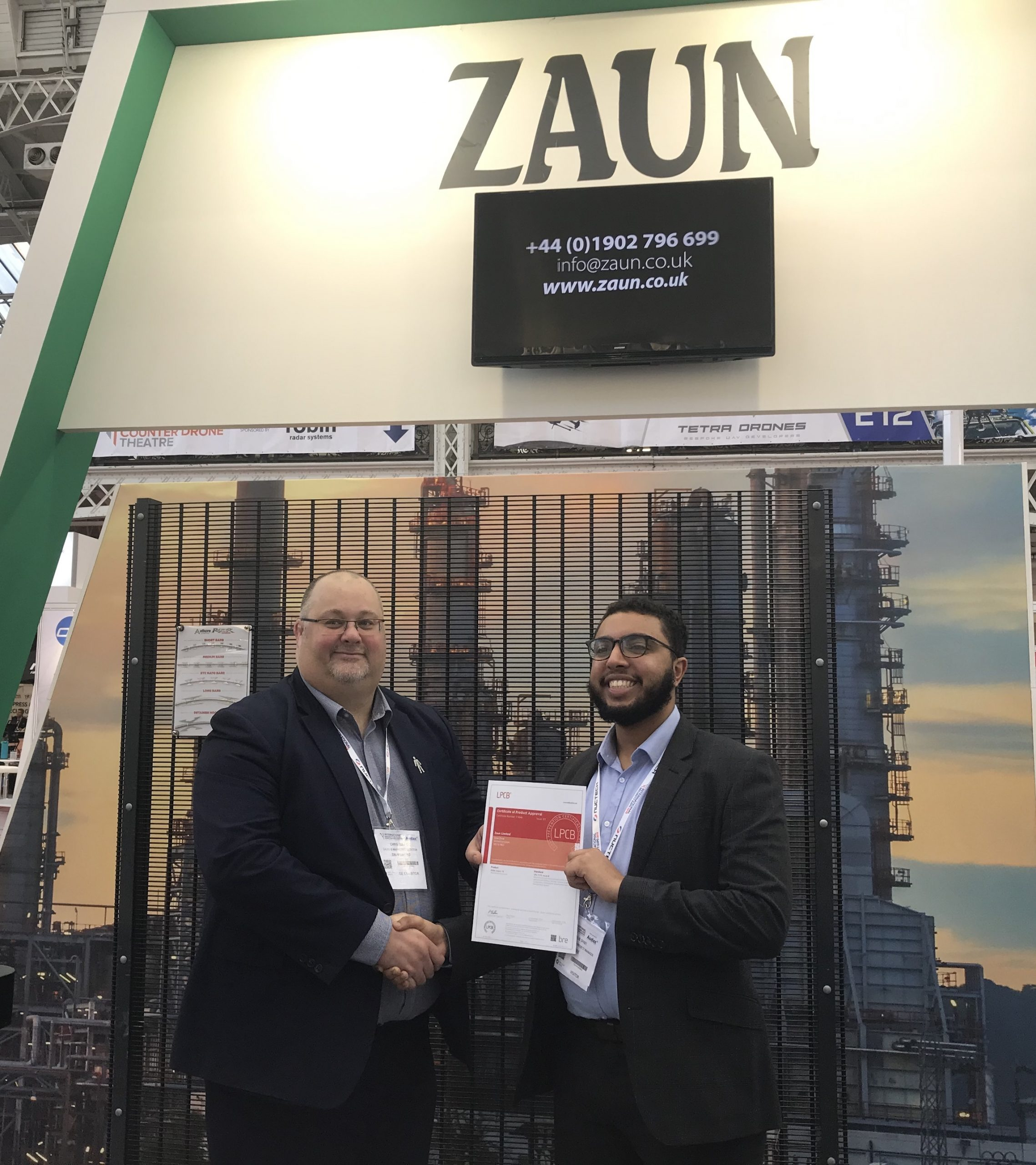 ZAUN UPLIFTS SR RANGE TO LATEST BRE STANDARD