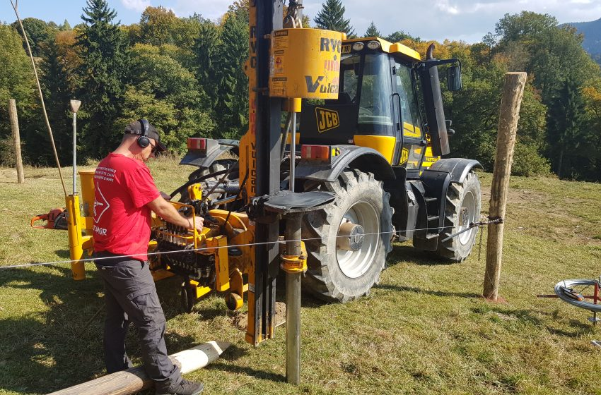 BRYCE AND EUROFENCE MECHANISE FENCING IN TRANSYLVANIA