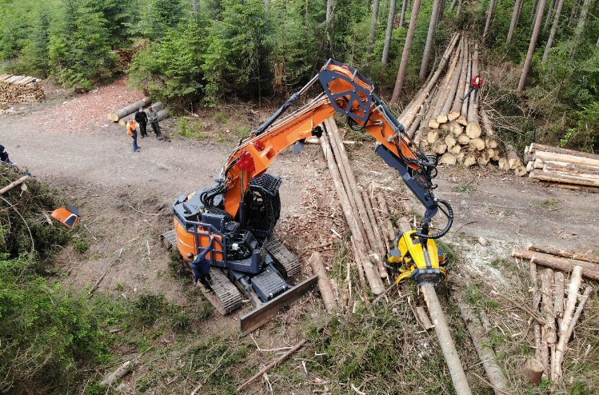 DOOSAN DX235LCR-5 EXCELS IN DEMANDING FORESTRY WORK