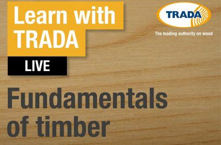 TRADA INTRODUCES FUNDAMENTALS OF TIMBER WEBINAR SERIES