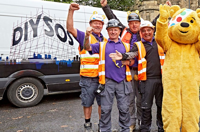 DIY SOS BBC CHILDREN IN NEED SPECIAL HEADS TO HULL