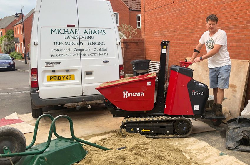 PARTIALLY-SIGHTED LANDSCAPER GETS LIFT