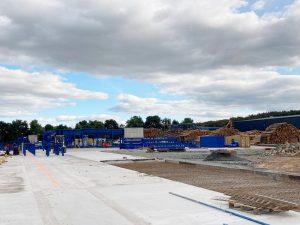 Installation of the new line underway